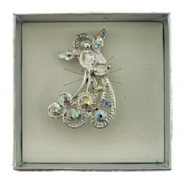 36 Bulk Silver Tone Angel Holding A Harp Pin With Gift Box