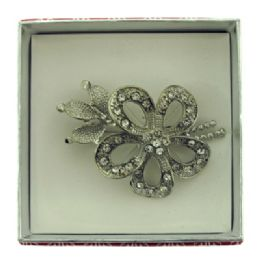 36 Bulk Flower With A Leaf And Branch Pin With Gift Box