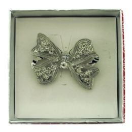 36 Units of Bow Pin With Gift Box - Jewelry Box