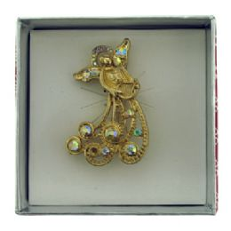 36 Bulk Gold Tone Angel Holding A Harp Pin With Gift Box