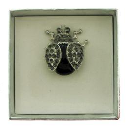 36 Bulk Lady Bug Pin With Gift Box