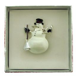 36 Bulk Snowman Pin With Gift Box