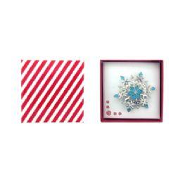 36 Bulk Snow Flake Pin Gift Box