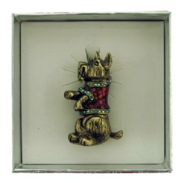 36 Bulk Dog Wearing Christmas Sweater Pin With Gift Box
