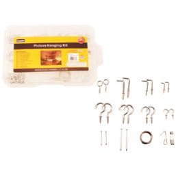 72 Units of 92pc Picture Hanging Kit With Tool Box - Tool Sets