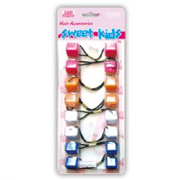 96 Units of Hair Bead Mix Color - PonyTail Holders