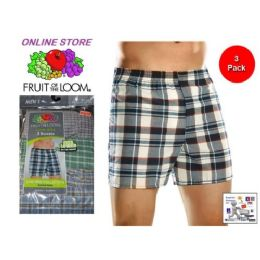 24 Bulk Fruit Of The Loom 3 Pack Men's Low Rise Boxer Shorts