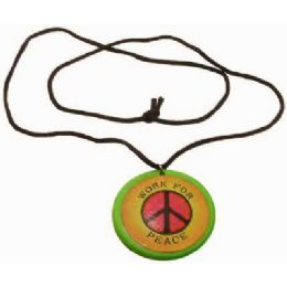 36 Wholesale Necklace With Acrylic Pendant, Pendant Work For Peace