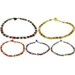 36 Wholesale See Beaded Flower Necklace