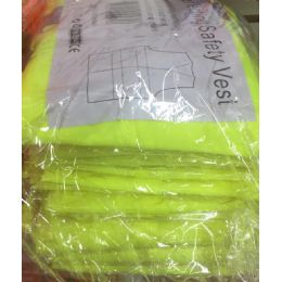 72 Units of Super Reflective Safety Vest In Yellow - Safety Helmets