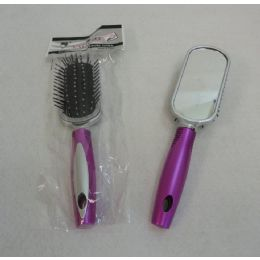 """48 Units of 9"""" Hairbrush With Mirror - Brushes"""
