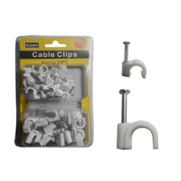96 Units of Cable Clips 8mm & 12mm - Wires