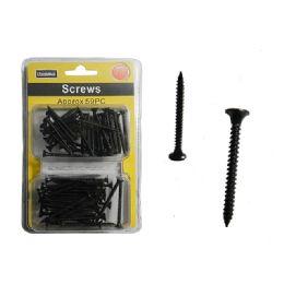 96 Units of Black Screws - Drills and Bits