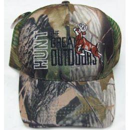 72 Units of Deer Hunt Mesh Back Cap - Hats With Sayings