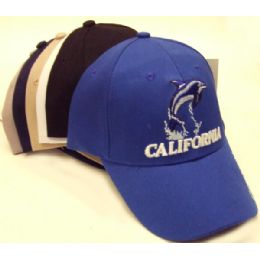 72 Units of California Dolphin Cap - Hats With Sayings