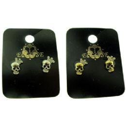 36 Units of Skull Post Earrings - Earrings