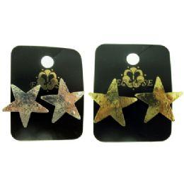 36 Units of Star Shaped Post Earrings - Earrings