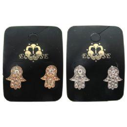 36 Units of Hands Of Fatima Post Earrings - Earrings