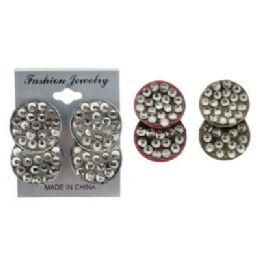 36 Units of Circle Post Earrings - Earrings