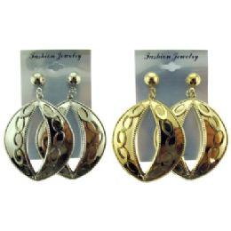 96 Units of Oval Dangle Post Earrings - Earrings