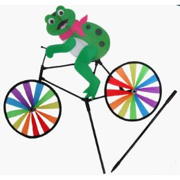 24 Units of WindmilL-Frog On Bike - Wind Spinners