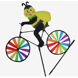 24 Units of WindmilL-Bee On Bike - Wind Spinners