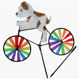 24 Units of WindmilL-Dog On Bike - Wind Spinners