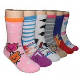 480 Bulk Girls Fun Food Crew Socks