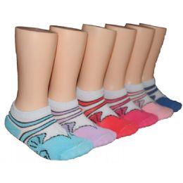 480 Bulk Girls Printed Low Cut Ankle Socks