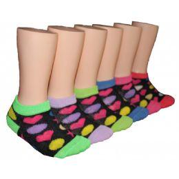 480 Bulk Girls Colorful Shapes Low Cut Ankle Socks