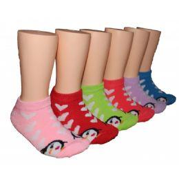 480 Bulk Girls Penguin Love Low Cut Ankle Socks