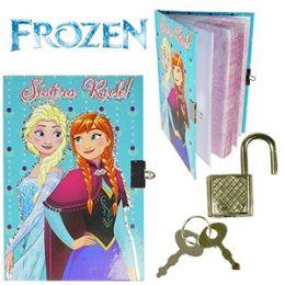 48 Wholesale Disney's Frozen Diary W/ Lock.