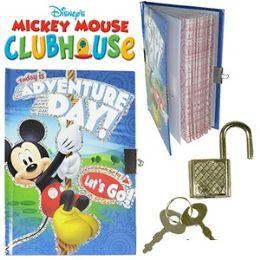 48 Wholesale Disney Mickey's Clubhouse Diary W/ Lock.