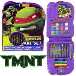 24 Units of Teenage Mutant Ninja Turtle Art Set 22 Piece - Art Paints