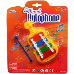 48 Bulk My Band Xylophone In Blister Card, 2 Assrt