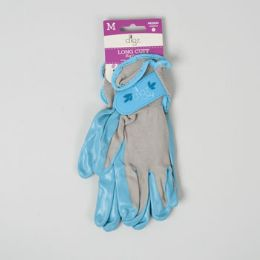 56 Units of Gloves Womens Long Cuff Grip Med Multi Purp Spndx Back - Gardening Gloves