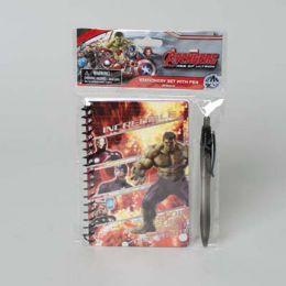 48 Bulk Stationery Set W/pen Avengers Age Of Ultron Peggable