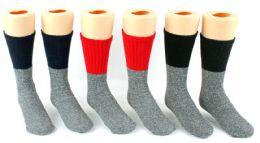 24 of Children's Thermal Merino Wool Crew Socks - Size 6-8 - 2-Pair Packs