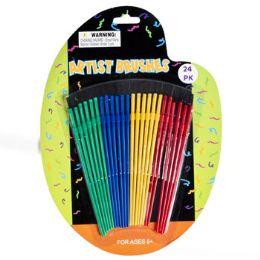 72 of 24pc Plastic Artist Craft/paint Brush