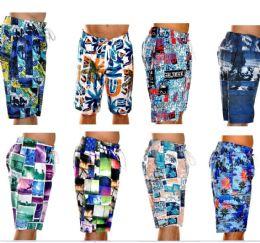48 Units of Men's Fashion Printed Bathing Suit - Mens Bathing Suits