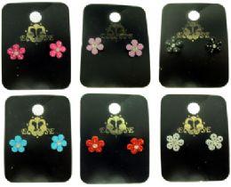 36 Units of Flower Shaped Post Earrings - Earrings