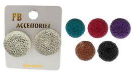 36 Units of Circle Shaped Post Earrings - Earrings