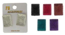 36 Units of Square Post Earrings - Earrings