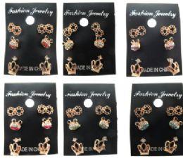 36 Units of Trio Of Post Earrings - Earrings