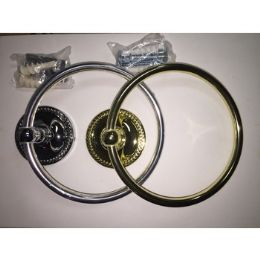 48 Bulk Brass And Silver Towel Rings
