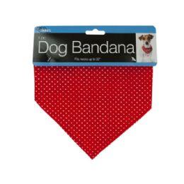 72 Units of Printed Dog Bandana With Snap Closure - Pet Accessories