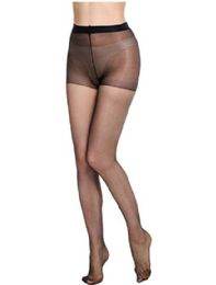 36 Units of Ultra Sheer Queen Size Pantyhose In Black - Womens Thigh High Stocking