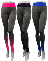 12 of Ombre Color Effect Leggings Assorted With Waist Bands