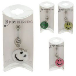 36 Wholesale 316l Surgical Steel Belly Jewels With Crystal Like Accent