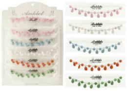 72 Units of Beaded Anklet With Rhinestone Accents - Ankle Bracelets